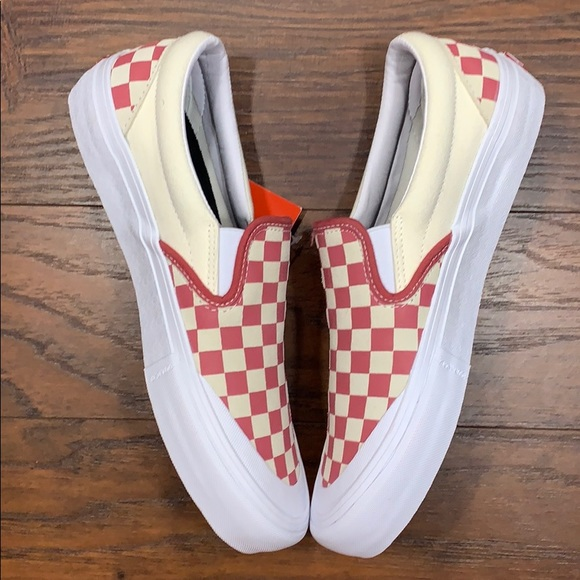 VANS SLIP-ON PRO CHECKERBOARD Mineral Red